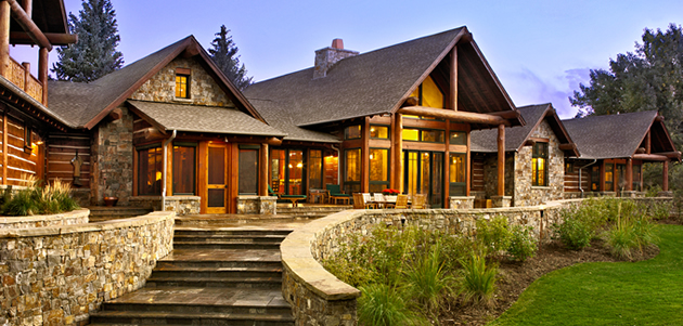 Luxury barn homes plans joy studio design gallery best for Colorado log home plans